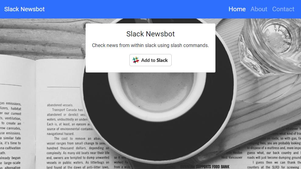Slack News Bot