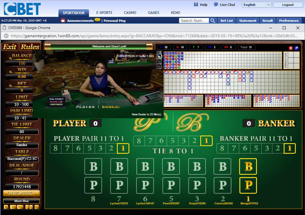 Cbet Live Casino