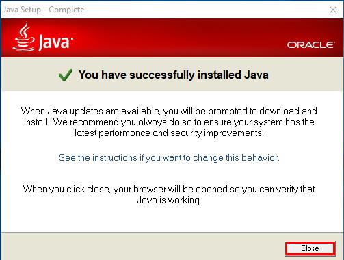 Sukses Install Java