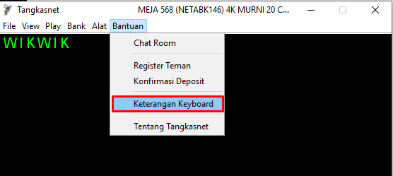 Menu Keyboard