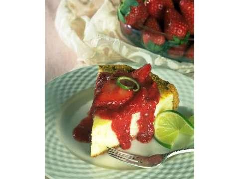 Cheesecake με κόκκινη μαρμελάδα