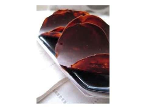 τουίλ σοκολάτας (γλώσσες) με κανέλα