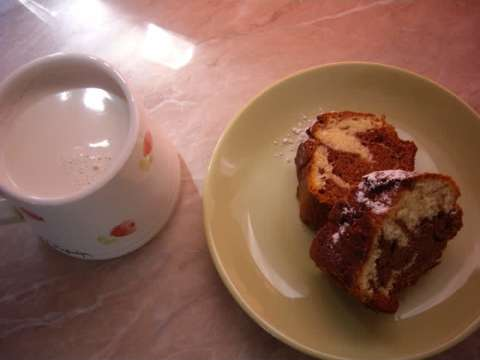 Δίχρωμο κέικ (μαρμπέ)