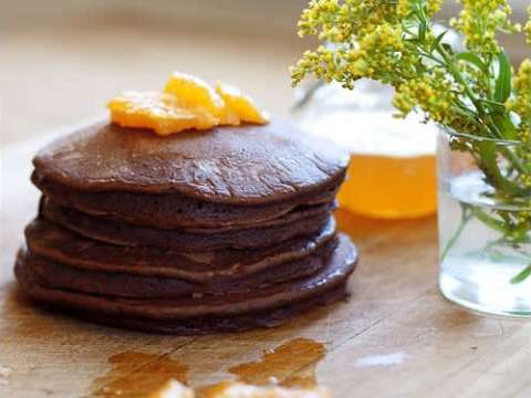 σοκολατένιες τηγανίτες με γλάσο πορτοκαλιού-- όλε!