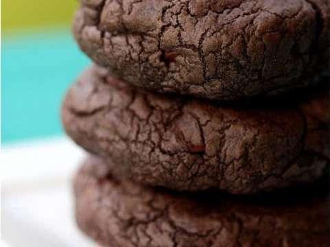 Τεράστια διπλά σοκολατένια μπισκότα με choc chips