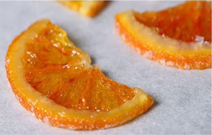 Συνταγή ζαχαρωμένες φέτες πορτοκαλιού