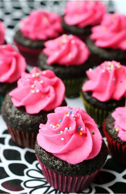 Συνταγή Μίνι σοκολατένια cupcakes