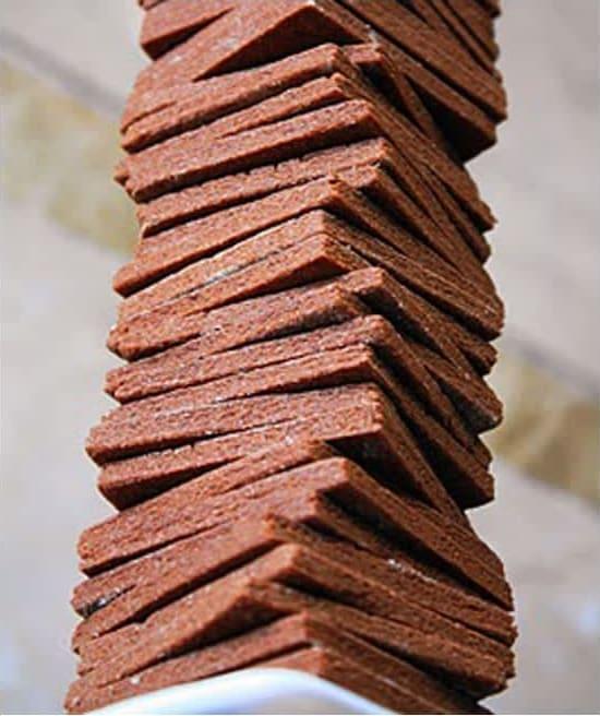 Συνταγή Τετράγωνα σοκολατένια μπισκότα