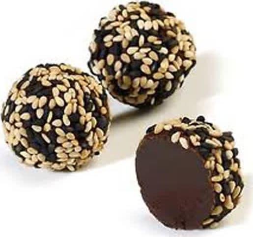 Συνταγή σοκολατάκια καλυμμένα με σουσάμι