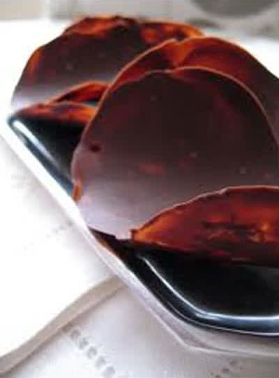 Συνταγή τουίλ σοκολάτας (γλώσσες) με κανέλα
