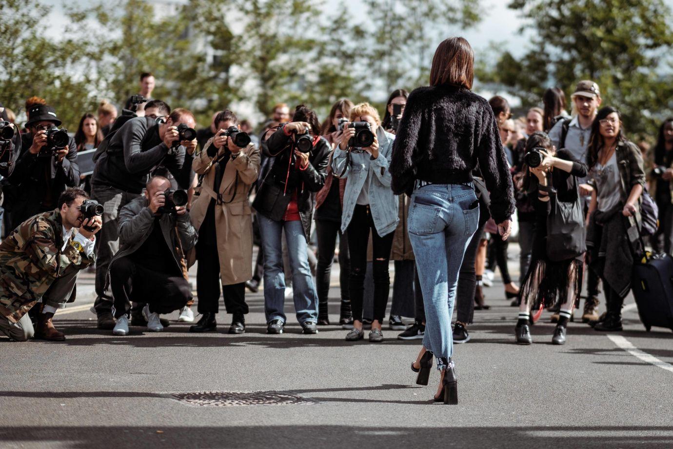 Model und Fotografen
