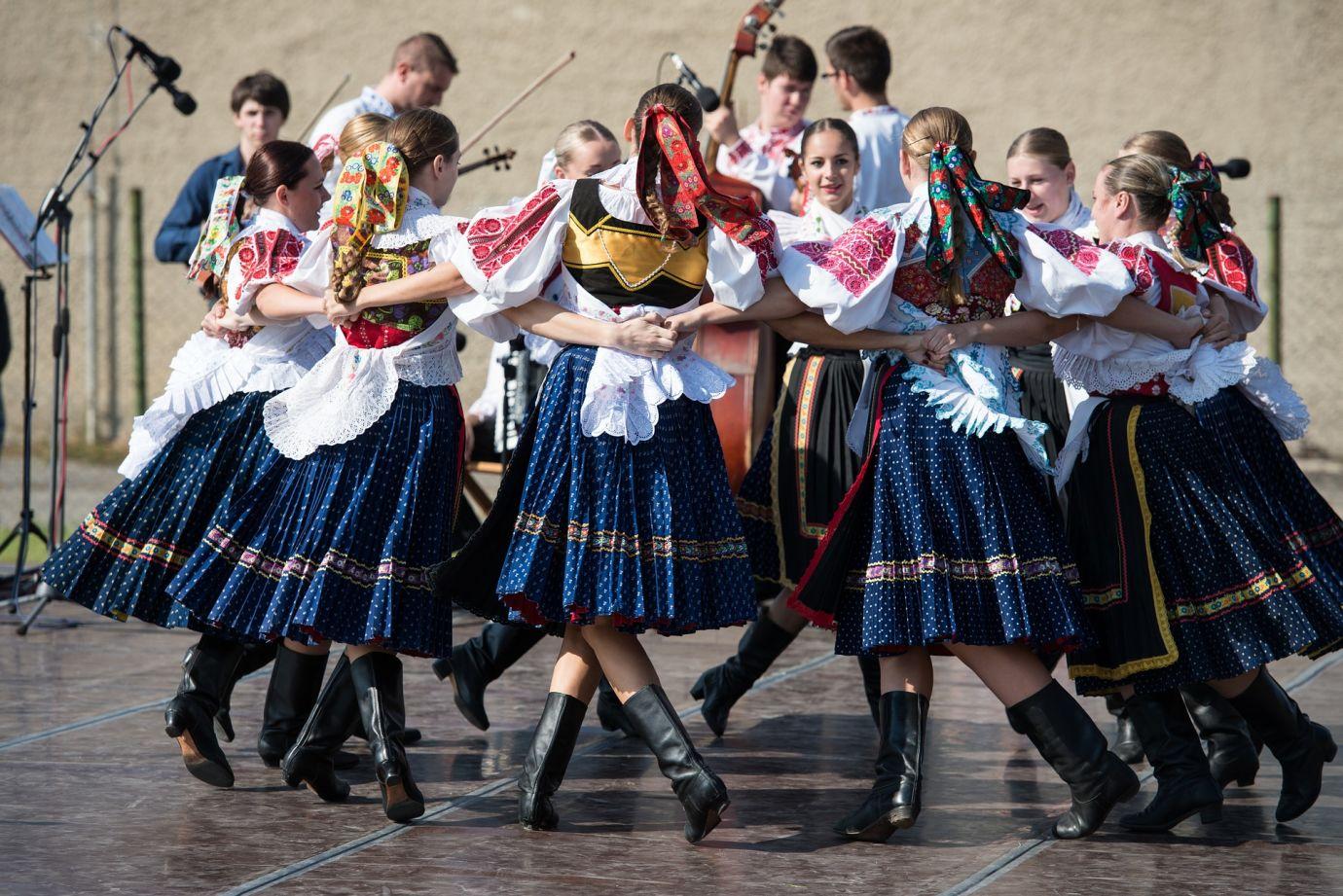 Tanzgruppe in Folklore