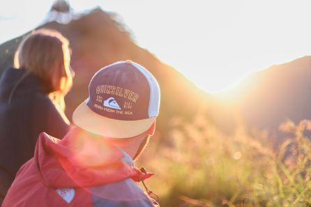 Sonnenuntergang und Cap