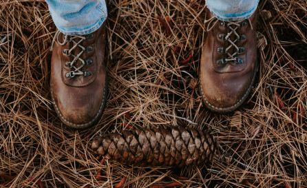 Braune Stiefel mit Hose
