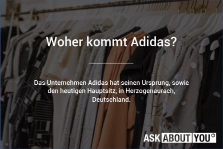 woher kommt adidas
