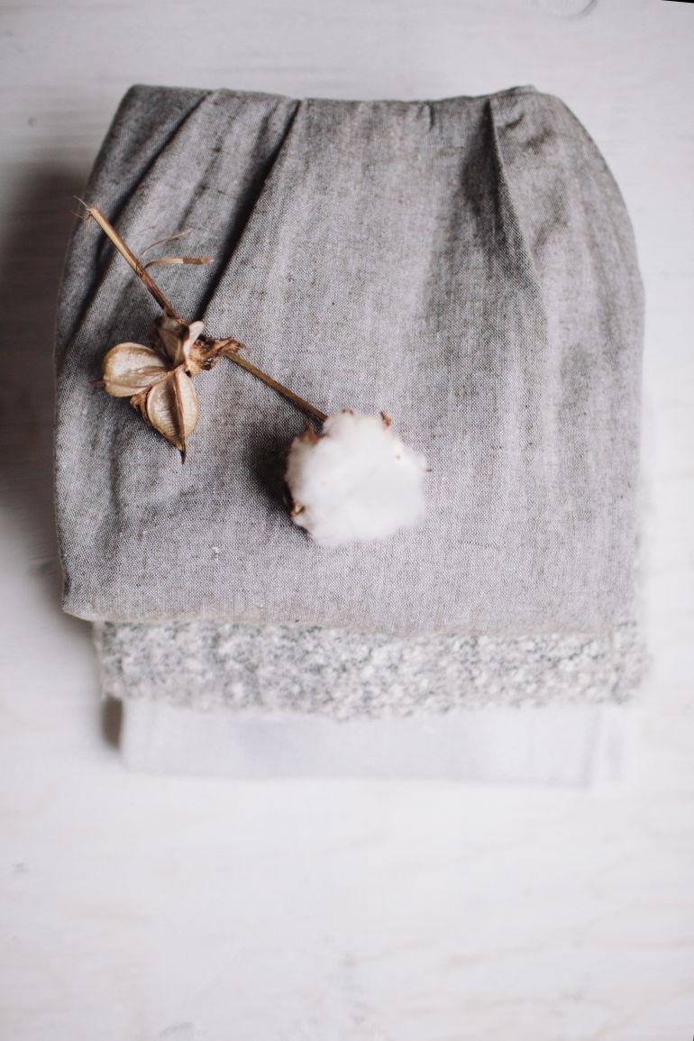 Baumwollblüte auf Kleidung}
