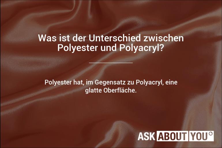 was ist der unterschied zwischen polyester un polyacryl