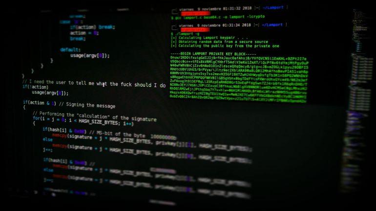Programmiercode auf Computer Bildschirm}