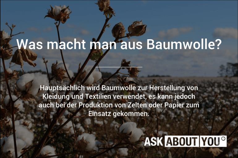 was macht man aus baumwolle