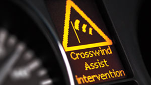 Metris Van crosswind assist intervention symbol