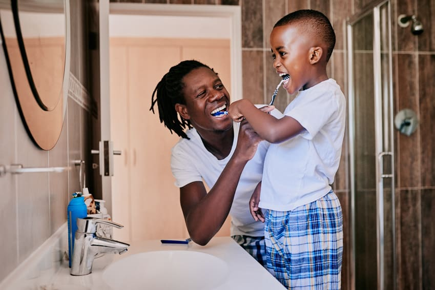 Child's proper dental hygiene