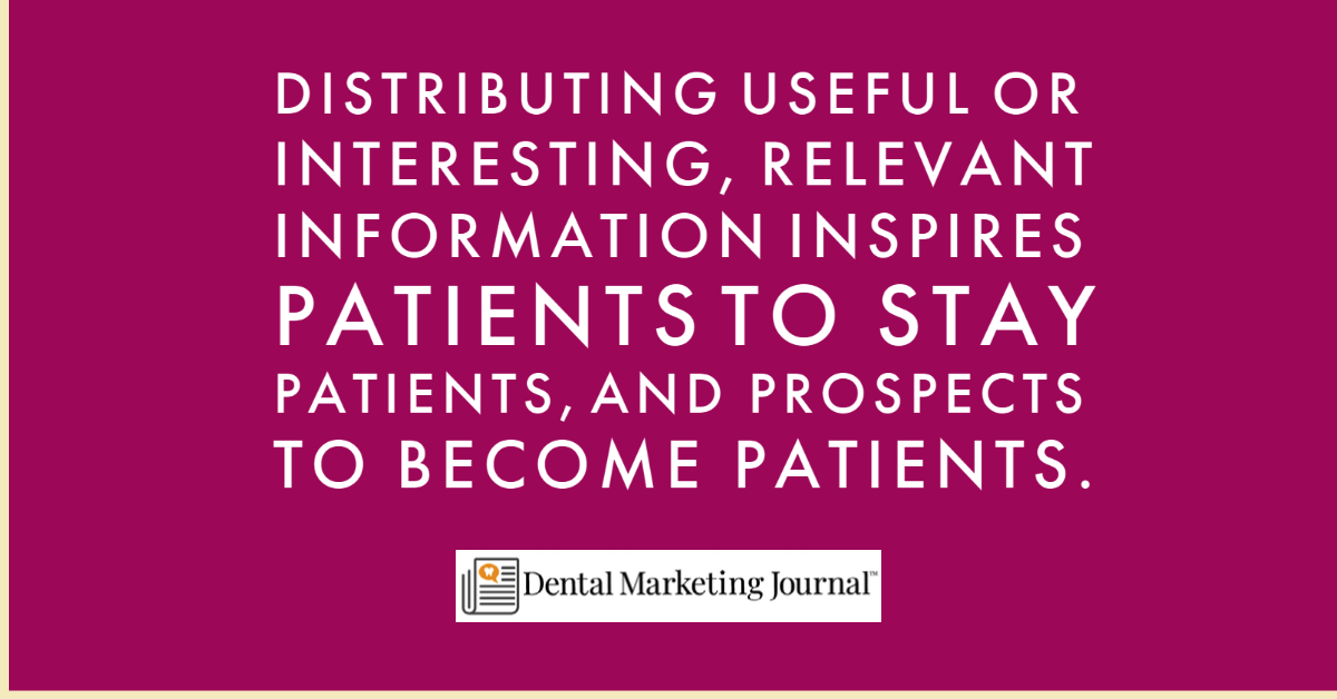 Dental Content Marketing Benefits