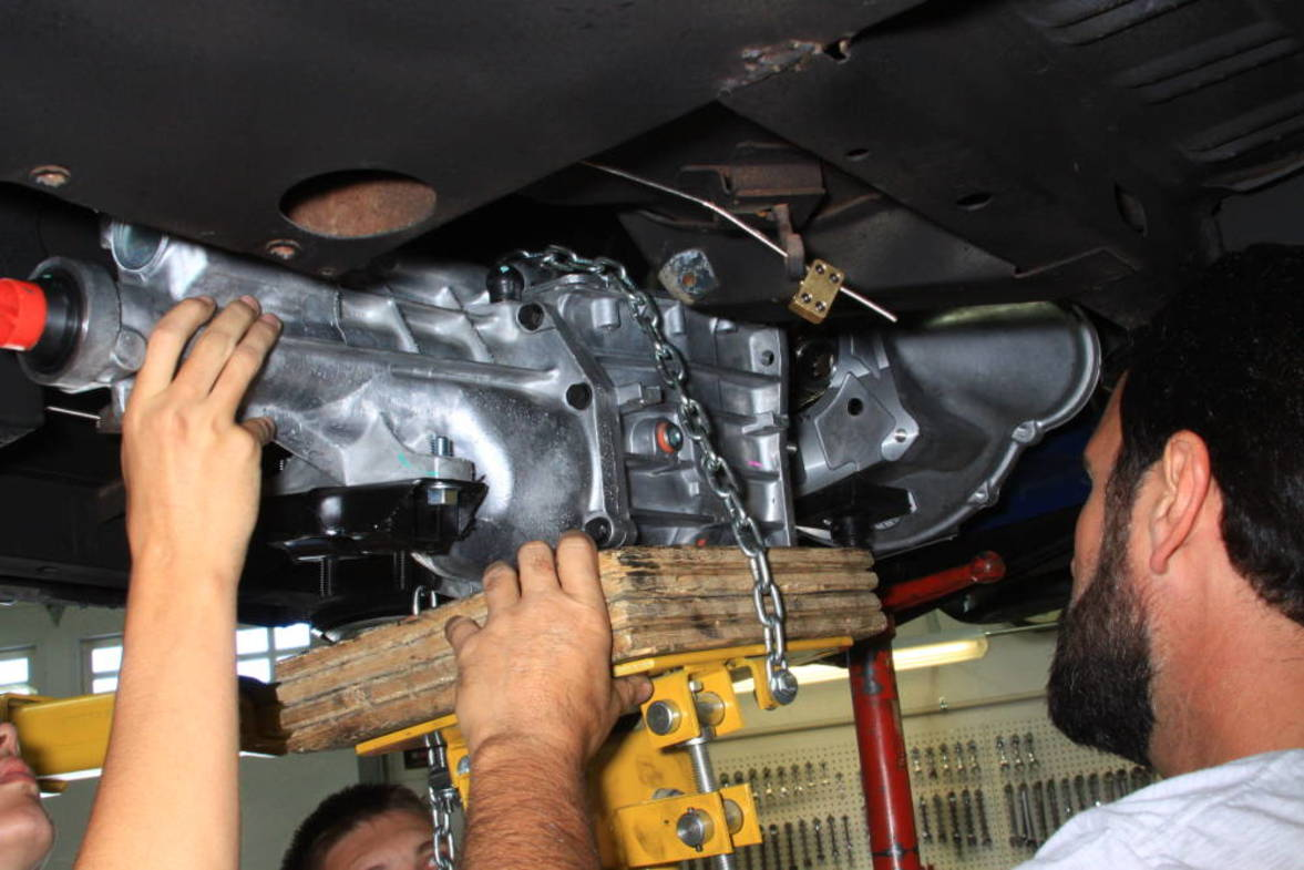 Follow this pictorial on how to install a T5 transmission into a 1971-73  Mustang or Cougar.