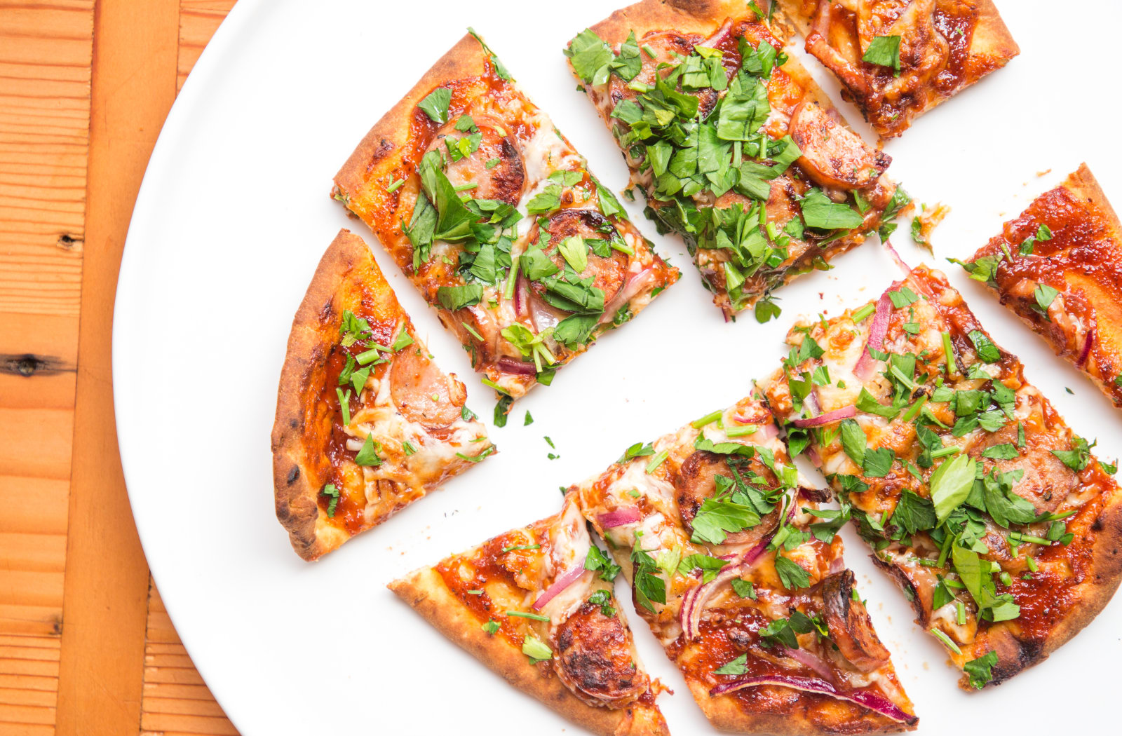 Dinner Smarter: Air Fryer Barbeque Chicken Sausage Pizza image