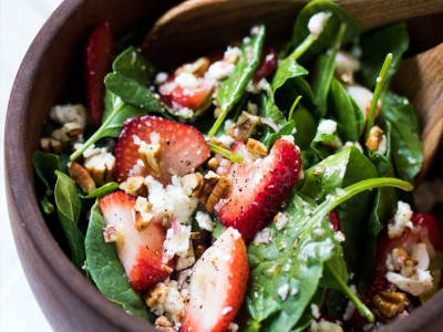 Strawberry and Spinach Summer Salad