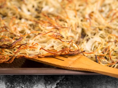 Spiralized Baked Hash Browns