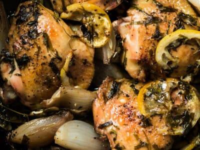 Roasted Lemon-Tarragon Chicken Thighs