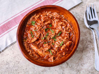 Sweet and Spicy BBQ Pulled Chicken