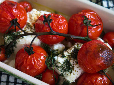 Oven-Roasted Feta and Tomatoes