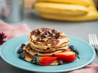 Banana and Chocolate Protein Pancake