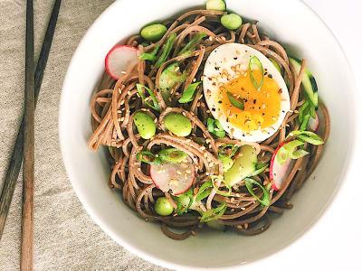 Lemon-Miso Soba Noodle Bowl