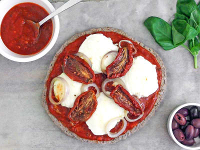 Meatza with Artichokes and Sun-Dried Tomatoes