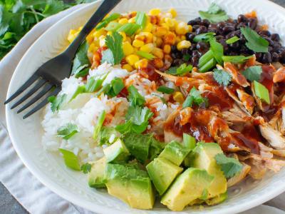 Meal Prep: Barbecue Chicken Burrito Bowls