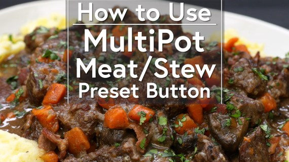 Using the Meat/Stew Button