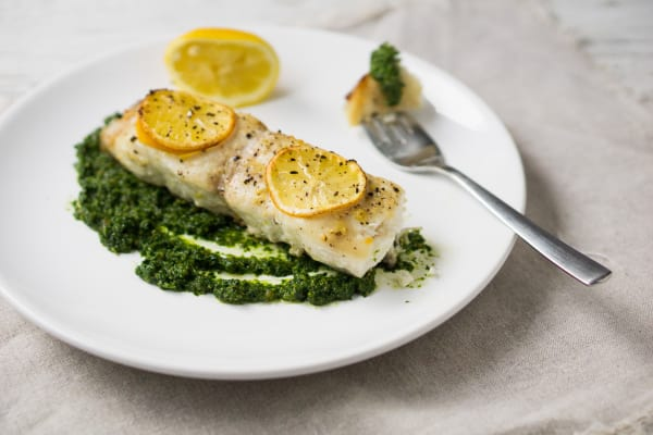 Baked Cod with Pesto