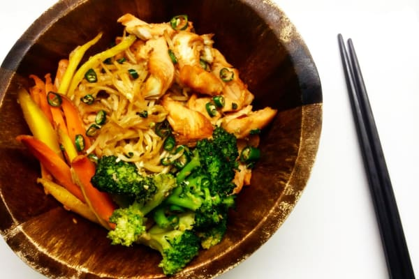 Chile Chicken and Noodles