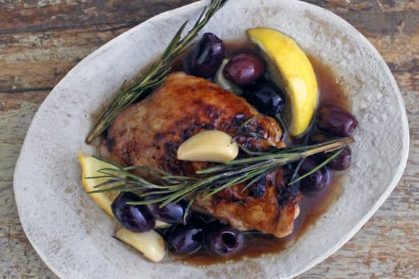 Sweet Balsamic Chicken with Lemon and Olives