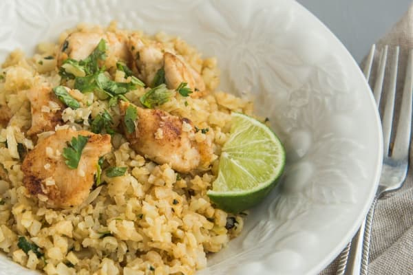 Cilantro-Lime Chicken with Cauliflower Rice