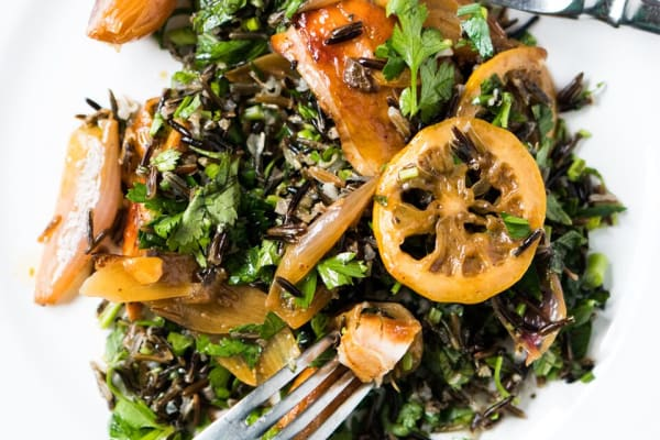 Roasted Chicken with Wild Rice Salad