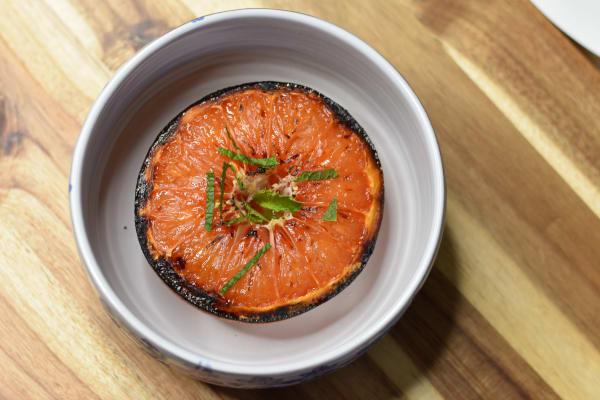 Caramelized Honeyed Grapefruit with Mint
