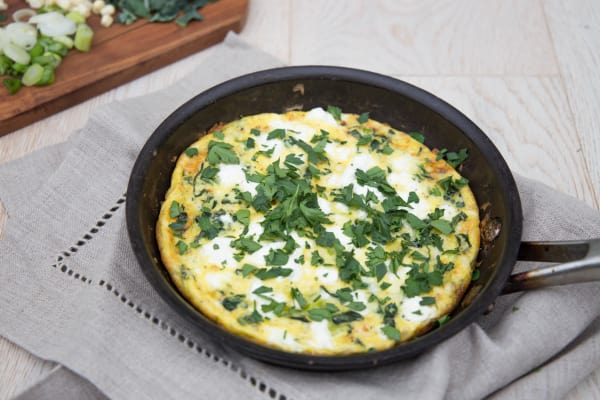 Corn, Goat Cheese and Onion Frittata