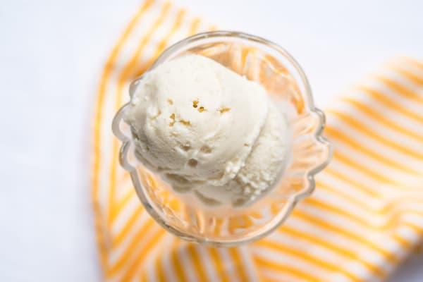 No-Churn Vegan Vanilla Ice Cream