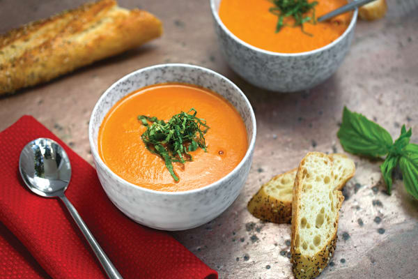 Pressure Cooker Fire-Roasted Tomato Soup