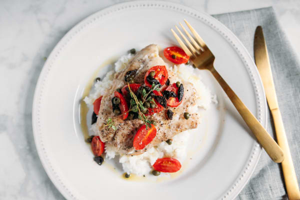 Pressure Cooker Steamed Mediterranean Fish