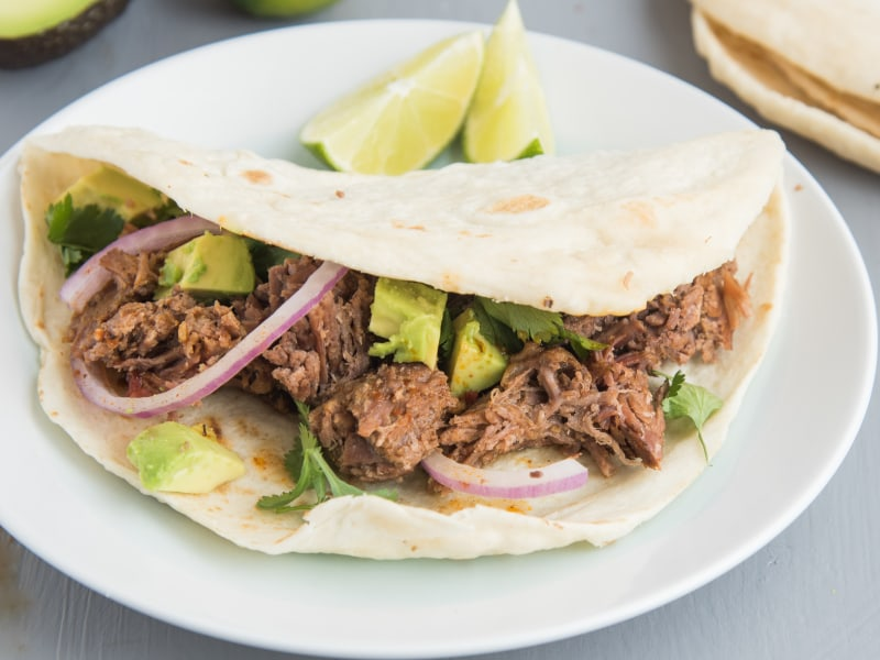 Slow Cooker Shredded Beef for Tacos