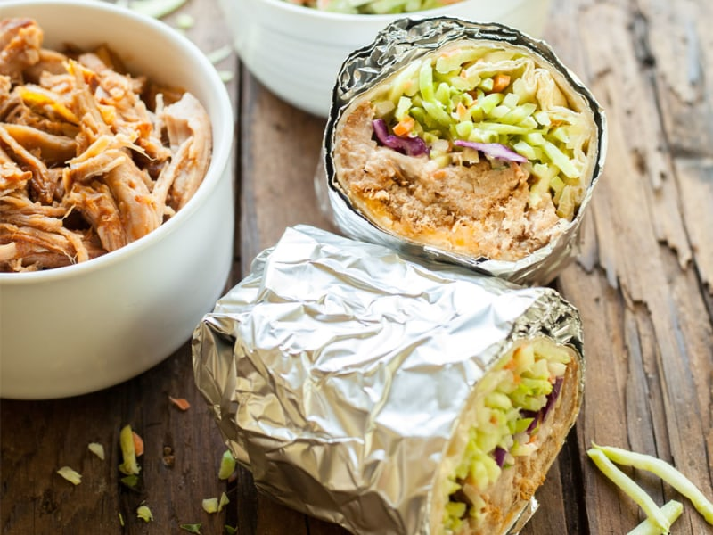 Slow Cooker Barbeque Pork Burrito